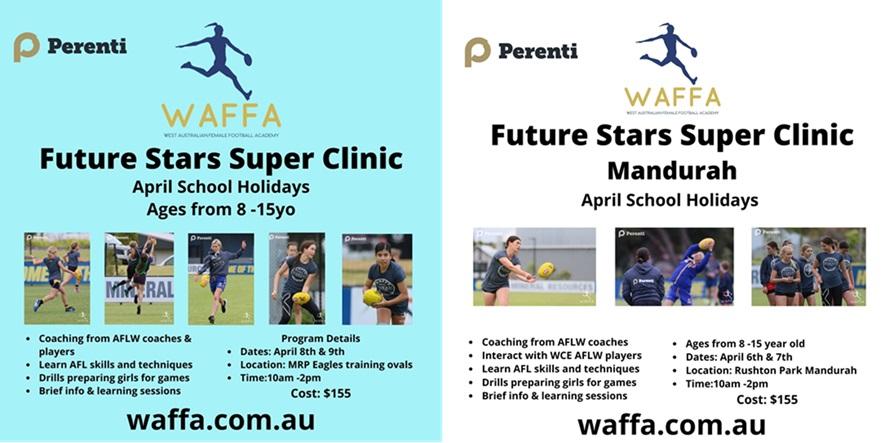 WA Female Football Academy (WAFFA) Super Clinics