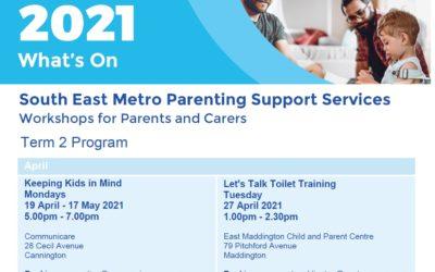 2021 Communicare Parent Support Workshops