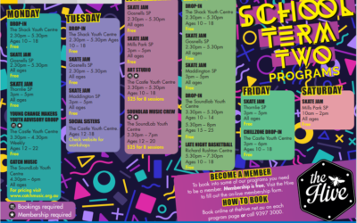 Youth Term 2 Programs at The Hive