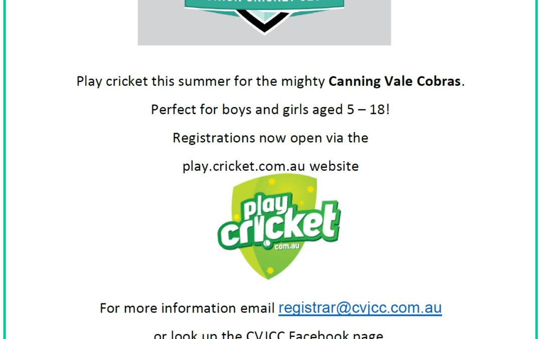 Canning Vale Cobras Junior Cricket Club