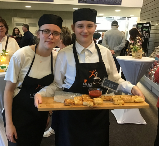 Hospitality Students Cater LEAP Dinner